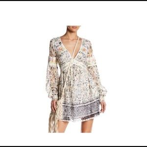 BNWT Free People Embroidered mini dress 8